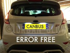 FORD FIESTA MK7 LED XENON ICE WHITE NUMBER PLATE LIGHT BULBS ERROR FREE