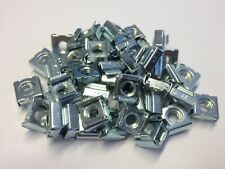 QTY 10 M6 x 1.0mm pitch CAGE NUTS STEEL ZINC PLATED SUIT PANEL 0.7 - 1.6mm THICK