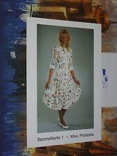Lindner Sammelkarte Miss Philatelie Marion Irmer germany Stamp Dress Sexy women