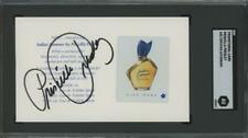 PRISCILLA PRESLEY signed Indian Summer perfume sample AUTOGRAPH - SGC certiifed