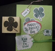 Stampin Up rubber stamp Repeat LUCKY Lucky PINCH ME SHAMROCK  St. Patrick's Day