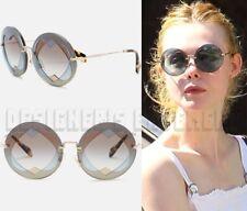 1457e66d6ded MIU MIU azure & brown Round layered Hearts SMU 01S sunglasses NIB Authentic  $420