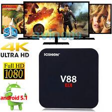new 4K V88 Amlogic RK3229 Quad-core 1G+8G Android 5.1 Smart TV Box Wifi Media