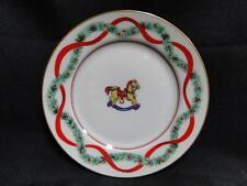 "Fitz & Floyd Christmas Wonderland, Toys, Gold Trim: Bread Plate (s) 6 5/8"""