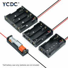 AAA AA BATTERY HOLDER WITH LEAD WIRES RECHARGEABLE CELL EASY POWER BANK CASE 1-8