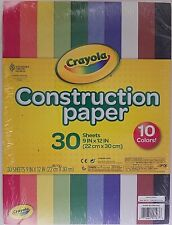 "Crayola Construction Paper 9"" x 12"" 10 Colors 30 Sheets/Pack"