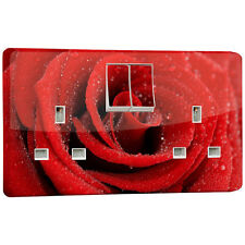 RED ROSE POWER socket outlet adesivo vinile per Crabtree 4306 DOPPIA 2 Gang