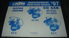 Ersatzteilkatalog KTM Motor Engine 50 SXR / S5-GS / S5-E / S5-T Stand 03/1997!