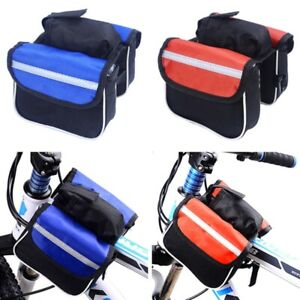Cycling Bicycle Bike Top Frame Front Pannier Saddle Tube Bag Double Pouch