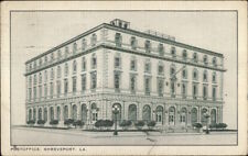 Shreveport LA Post Office Bldg c1940 Postcard