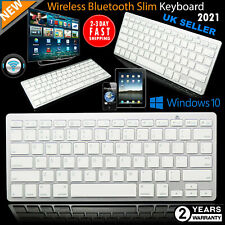 More details for slim wireless bluetooth keyboard for imac ipad android phone tablet