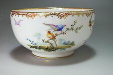 Jatte en porcelaine de Sèvres surdécorée au XIXe siècle