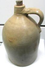 Antique 2 Gallon (Samuel) S.L. Pewtress Stoneware Jug NEW HAVEN CT