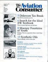 The Aviation Consumer Magazine January 1 1990 EX No ML FAA Library 102016jhe