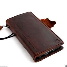 genuine real leather case for iphone 5s 5c book wallet cover handmade card slots