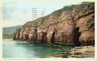 Caves Of La Jolla Cliffs Beach View San Diego California CA VTG 1920's Postcard