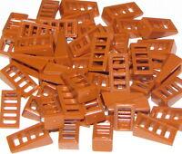 Lego Lot of 50 New Dark Orange Slopes 18 2 x 1 x 2/3 with 4 Slots Slopes Pieces