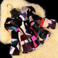 100% Real Genuine Mink Fur Coat women Outwear jacket Garment Warm Vintage Winter