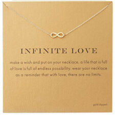 Gold necklace convey sense message pendant with meaning infinity luck beginning