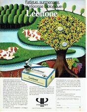 Publicité Advertising 067  1986  Recherche Biologique Yves Ponroy  le Lecitone