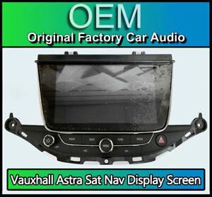 Vauxhall Astra K Sat Nav display screen, Vauxhall media radio panel 39042448