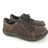 BORN Marisella Brown Leather Lace Up Oxfords Casual Walking Shoes Women's Sz 7.5