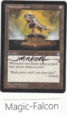 x1 Horn of Greed STRONGHOLD (1998) EX/NM MAGIC MTG ★★★★ SIGNED !