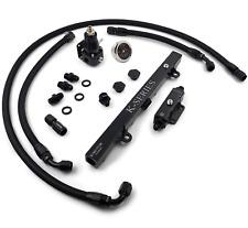K-Motor Braided Fuel Line Kit System For K20 K24 K Swap Fits Honda Civic Integra