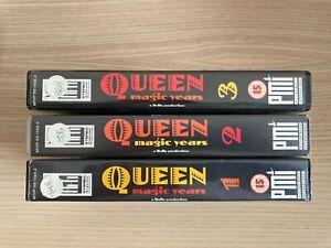 Queen _ Magic Years 1 2 3 _ Lotto 3 X VHS _ 1987 Emi PMI Germany RARE