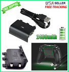 For Xbox One Rechargeable Battery Pack 2400mAh Wireless Controller + USB Cable