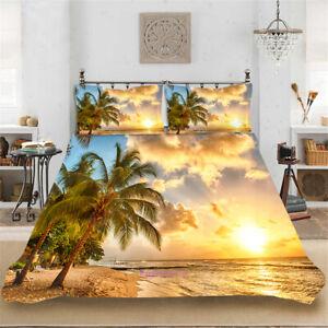 Doona Quilt Duvet Cover Set Single/Double/Queen/King Bed Linen Tropical Sea
