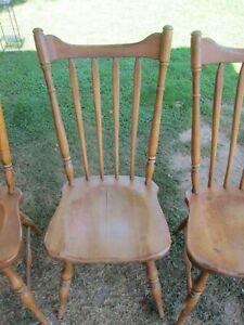 1 Cushman Chair Maple Wood Vermont Colonial Vtg Mid Century