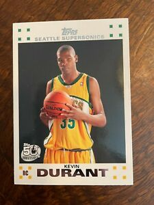 2007-08 TOPPS 2 OF 14 KEVIN DURANT SEATTLE SUPERSONICS ROOKIE CARD MINT