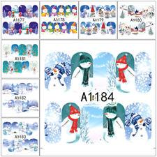Invierno Monigote Nieve Copo de Nieve Navidad Decoración Arte de Uñas Pegatinas