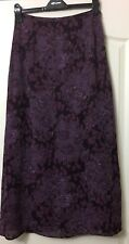 STUNNING VINTAGE LAURA ASHLEY PURPLE HUE FLORAL MAXI SKIRT SIZE 12 IMMACULATE