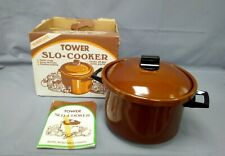 Vintage Tower Earthenware Slo-Cooker - 2Litres with Recipes/Instructions