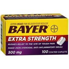 Bayer Extra Strength Aspirin Caplets - 100 CP (2 Packs)