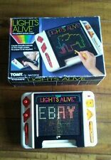 Tomy Lights Alive Vintage Game Light Brite Type 1986 Perfect Picture Maker 2571