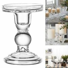 Transparent Glass Candle Stand Holder Tealights Home Decoration Candlesticks