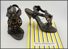 ZOE WITTNER WOMEN'S HIGH HEEL BEJEWELLED SANDALS SHOES SIZE 8 AUST 39 EUR