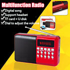 Portable FM Radio Stereo bluetooth Speaker Rechargeable MP3 fathers day
