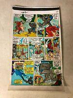 AMAZING ADVENTURES #13 ART color guide 1972 BEAST X-MEN fights BLOB EVIL MUTANTS