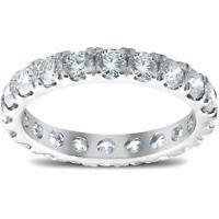 2 Cttw Diamond Eternity Ring Split Prong Womens Wedding Band 14k White Gold