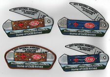 2017 National Scout Jamboree Allgheny Highlnd 4 Pc Case Knife Set  JSP [NJ126]