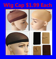 NEW STOCKING WIG CAP-- CONTROL HAIR UNDER WIG -- BLACK BROWN BLONDE