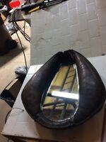 Antique Horse Collar Mirror Leather