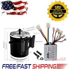 500W 24V Brush Electric Motor + Speed Controller + Throttle F E-Scooter Atv QuAd