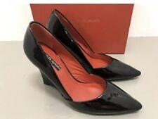 Charles Jourdan Size 7 1/2 M Black Patent Leather Ashton Wedge