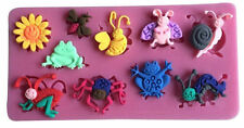 Mini Garden Insects Silicone Mold for Fondant, Gum Paste & Chocolate - NEW