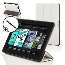 Pelle Bianca Smart Custodia Pieghevole Cover per Amazon Fire HD 6 Tablet + Stilo